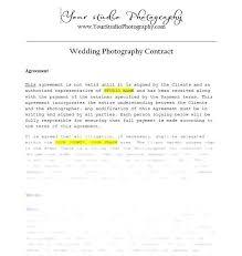 Wedding Photography Contract Form Unique Simple Wedding Photography Contract Template Images Word