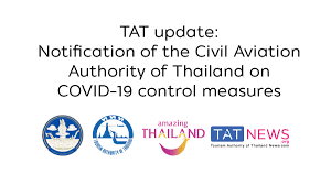TAT update: Notification of the Civil Aviation Authority of Thailand on  COVID-19 control measures - TAT Newsroom