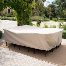 Shield Outdoor Waterproof Fabric Dining Set Patio Cover by