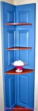 corner shelf with door
