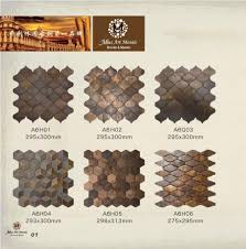 china hexagonal copper wall tile in bronze brushed for kitchen backsplash a6yb132