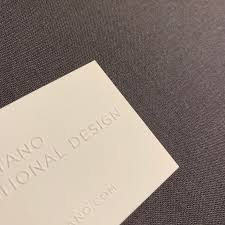 embossed letterpress business card printing nyc