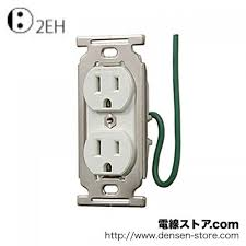 product details page > grounding implantation double outlet white grounding implantation double outlet white for specialist in me2851 meikosha 15a 125v 5 15r