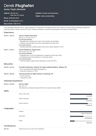 Flight Attendant Resume Sample Guide With Skills More