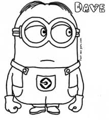 Small Picture Print out Dave The Minion Despicable Me 2 Coloring Pages