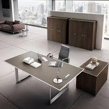 wood desks for office. 45/90 Ebony Wood / Mud Leather - Table Desks For Office