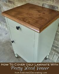 how to cover ugly laminate with pretty wood veneer addicted 2 decorating