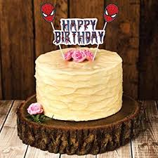 Party Propz Spider Man Theme Happy Birthday Cake Topper Amazonin