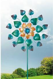 wind spinner kinetic stake maha rasa color garden yard spinners whirligig
