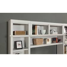 ... Parker House Boca 11pc Corner Library Bookcase Wall Unit in Cottage  White Finish in [category