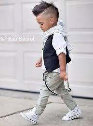 White Studded Chucks Boys Fashion Mates Dětské účesy Oblečení