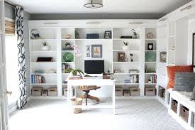 ikea built in desk office makeover reveal hack built in billy bookcases ikea diy built in
