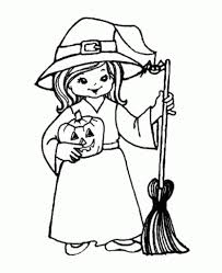 Witch Coloring Pages Free Printables For Kids within Halloween ...