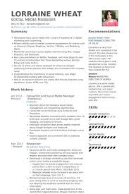 Social Media Resume Example Social Media Resume Template Viaweb Co