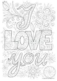 I Love You Coloring Pages Printable I Love You Coloring Pages For