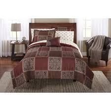 comforter sets bed in a bag mainstays tiles bedding set com 4