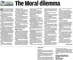 the moral dilemma newspaper clipping university of malaya library image the moral dilemma