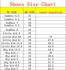 Little Kid Big Kid Shoe Size Chart Little Kid Big Shoe Sizes Kids