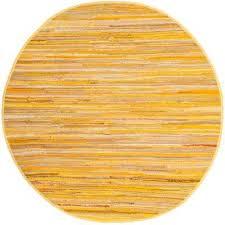 rag rug yellow multi