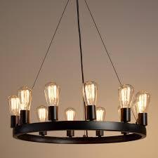 round light edison bulb chandelier best round chandelier