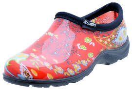 Sloggers Womens Waterproof Rain And Garden Shoe With Comfort Insole Paisley Red Size 9 Style 5104rd09