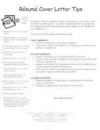 Examples Of A Resume Letter Customer Sample Of Resume Letter For