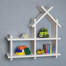 Small Picture Amazoncom Danya B House Design White Wall Mount Shelf Home