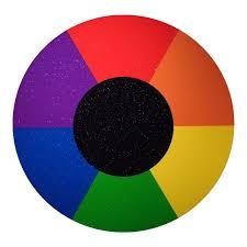 Prismatic Color Chart Silver Sparkle