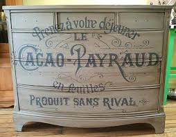 french typography dresser with chalk paint