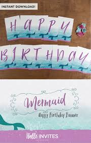 pennant banner decorations lovely mermaid birthday happy birthday banner diy instant of pennant banner decorations