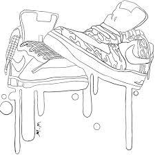 Nike Sportschoenen Kleurplaat Gratis Kleurplaten Printen