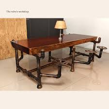 industrial pipe furniture. American Industrial Pipe Office Furniture Golden Years Series Creative Pipeline Solid Wood Table Boss Desk J001-in Bar Tables From On AliExpress.com