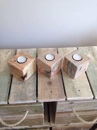 pallet furniture etsy. wood tea light holder candle pallet blocks reclaimed on etsy furniture