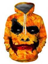 3D joker pullover hoodie halloween <b>clown</b> cosplay costume ...