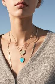 pendant necklace turquoise heart ring