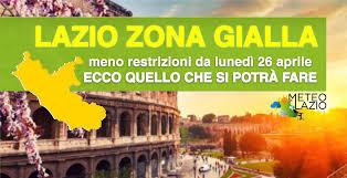 LAZIO torna in ZONA GIALLA - ecco quello che si potrà fare - Meteo Lazio