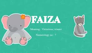 However, during their reception party in mumbai last night. Faiza Name Meaning