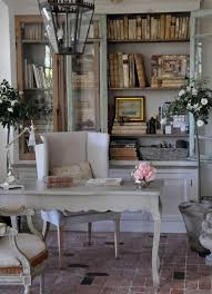 cottage office. FRENCH COUNTRY COTTAGE: Painted Library Cupboard Cottage Office
