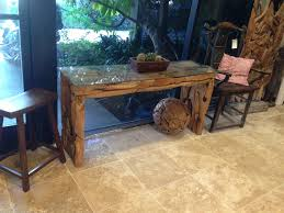 cheap reclaimed wood furniture. Unique And Vintage Hallway Console Table Made From Reclaimed Wood With Glass Top Stools Ideas Cheap Furniture
