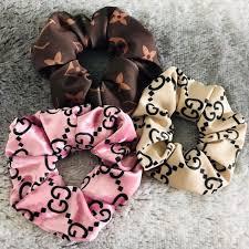 Designer Scrunchies Designer Scrunchies Pink Gucci One Is Satin Dm Depop
