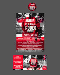 Designcontest Poster Event Ticket For Rodeo