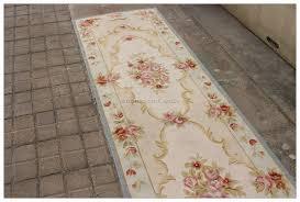 aubusson rug runner 2 5x10ft blue cream pink