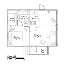 Beth    s tiny California cottage   Small House BlissThis     s California cottage has bedroom in just sq ft       cottage floor plan