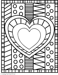 Small Picture Heart Coloring Page Coloring pages are a great way to end a