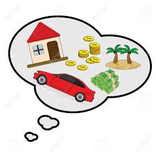 Image result for picture of nice house, cars, money