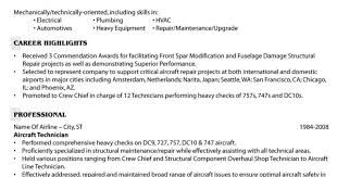 Aircraft Structural Repair Cover Letter Safety Consultant Cover