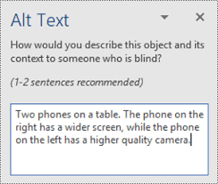 Everything you need to know to write effective alt text - Office Support