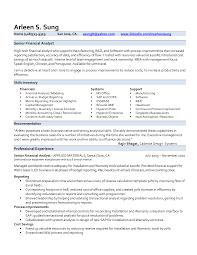 Financial Analyst Resume Sample India Finance Template Pdf Senior