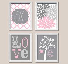 baby monogram wall decor