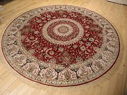 stunning silk persian area rugs traditional design red tabriz 6x6 round shape rug red circle rugs red silk traditional round rugs living room 6ft round